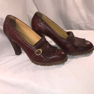 Vintage Burgundy Leather Heels